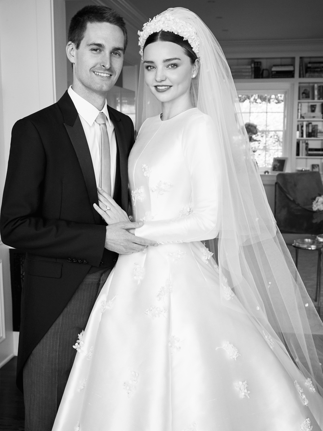 Miranda shared some of her private wedding photos with Vogue magazine. Source: Vogue
