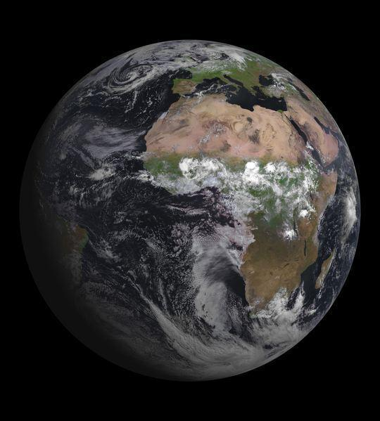 An image of the Earth taken by the European satellite MSG-3, released on Aug. 7, 2012.