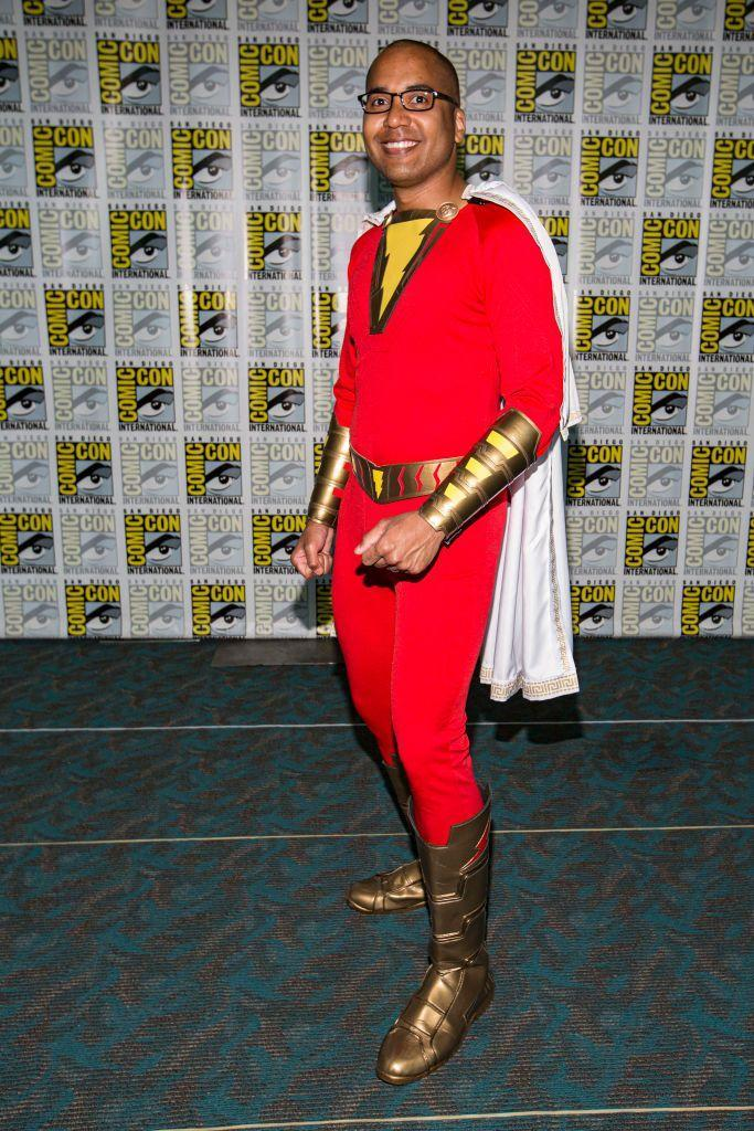 """<p>Transform yourself into the original Captain Marvel (a.k.a. Shazam) with a red jumpsuit, white cape, and gold boots. </p><p><a class=""""link rapid-noclick-resp"""" href=""""https://www.amazon.com/Gesikai01-Superhero-Costumes-Bodysuits-Adult-X-Large/dp/B07Q8DSNG6?tag=syn-yahoo-20&ascsubtag=%5Bartid%7C10070.g.23122163%5Bsrc%7Cyahoo-us"""" rel=""""nofollow noopener"""" target=""""_blank"""" data-ylk=""""slk:SHOP RED JUMPSUIT"""">SHOP RED JUMPSUIT </a></p>"""