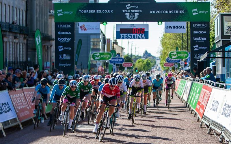 The start of the OVO Energy Tour Series race in Birkenhead - Action Plus