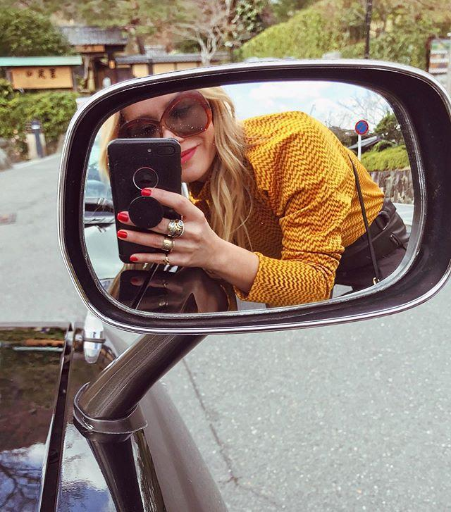 "<p>Ah, yes. The ultimate road trip selfie! Whether you're driving down the highway or stopped on the side of the road, car mirrors always make for great photo ops.</p><p><a href=""https://www.instagram.com/p/CBbUMwgs-hm/?utm_source=ig_embed&utm_campaign=loading"" rel=""nofollow noopener"" target=""_blank"" data-ylk=""slk:See the original post on Instagram"" class=""link rapid-noclick-resp"">See the original post on Instagram</a></p>"