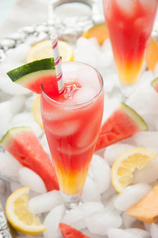 """<p>This sweet drink has a nice ombre look that's made for Instagram. Take a shot before you sip!</p><p><strong>Get the recipe at <a href=""""https://www.thekitchenmccabe.com/2014/05/27/watermelon-cantaloupe-lemonade/"""" rel=""""nofollow noopener"""" target=""""_blank"""" data-ylk=""""slk:The Kitchen McCabe"""" class=""""link rapid-noclick-resp"""">The Kitchen McCabe</a>.</strong></p><p><strong><strong><strong><strong><a class=""""link rapid-noclick-resp"""" href=""""https://go.redirectingat.com?id=74968X1596630&url=https%3A%2F%2Fwww.walmart.com%2Fip%2FInstant-Pot-Ace-60-Cooking-Blender%2F626991948&sref=https%3A%2F%2Fwww.thepioneerwoman.com%2Ffood-cooking%2Fmeals-menus%2Fg32147587%2Fwatermelon-drink-recipes%2F"""" rel=""""nofollow noopener"""" target=""""_blank"""" data-ylk=""""slk:SHOP BLENDERS"""">SHOP BLENDERS</a></strong></strong></strong><br></strong></p>"""