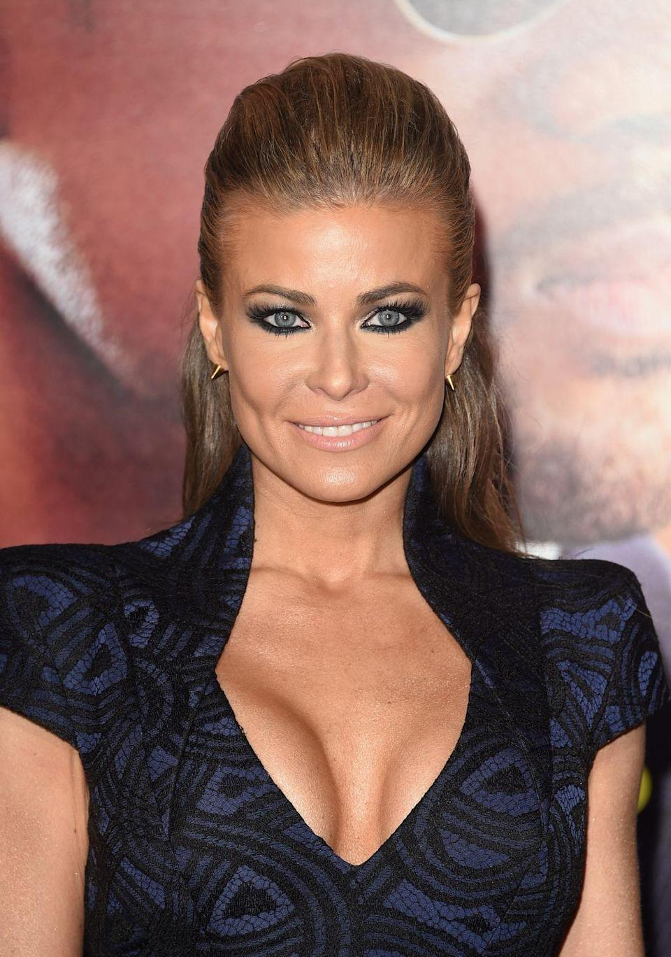 """<p><strong>Real name: </strong>Tara Leigh Patrick<br></p><p>Carmen changed her birth name in 1991 after meeting Prince, <a href=""""https://www.yahoo.com/entertainment/blogs/music-news/how-prince-coined-carmen-electra-s-stage-name-005417834.html?guccounter=1&guce_referrer=aHR0cHM6Ly93d3cuZ29vZ2xlLmNvbS8&guce_referrer_sig=AQAAAJRNxhOVkhZD_-X07drAGtr_j2GPo_bzOZQ1jSzGhseJEnWeMz0ise1WsNujV4MwoH9-FmHGQon5wDEGMCoOXx3jkupfTH5tyETg3S2qKysjDW-uvaxYjlkIxXsWyiY0KGUh001ANZYn0i_hweR5r2-UQiGlCn2jgf-16rR2zxni"""" data-ylk=""""slk:who suggested she change her name;outcm:mb_qualified_link;_E:mb_qualified_link;ct:story;"""" class=""""link rapid-noclick-resp yahoo-link"""">who suggested she change her name</a> to further her career. She took his advice and went with it.</p>"""