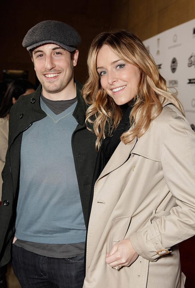 """<a href=""""http://movies.yahoo.com/movie/contributor/1800018640"""">Jason Biggs</a> and <a href=""""http://movies.yahoo.com/movie/contributor/1809234484"""">Jenny Mollen</a> at the Los Angeles premiere of <a href=""""http://movies.yahoo.com/movie/1810167552/info"""">Super</a> on March 21, 2011."""