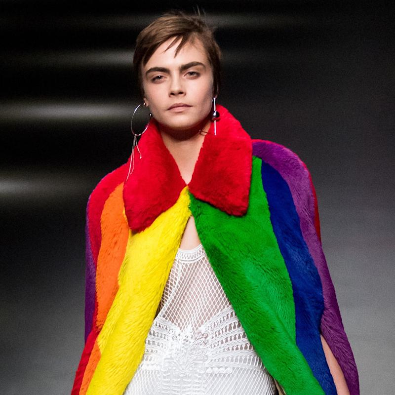 Cara Delevingne Returns to the Runway for Burberry's Tribute to LGBTQ Youth