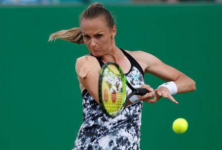 Tennis - WTA International - Nature Valley Open - Nottingham Tennis Centre, Nottingham, Britain - June 13, 2018 Slovakia's Magdalena Rybarikova in action during her second round match against Mona Barthel of Germany Action Images via Reuters/Peter Cziborra