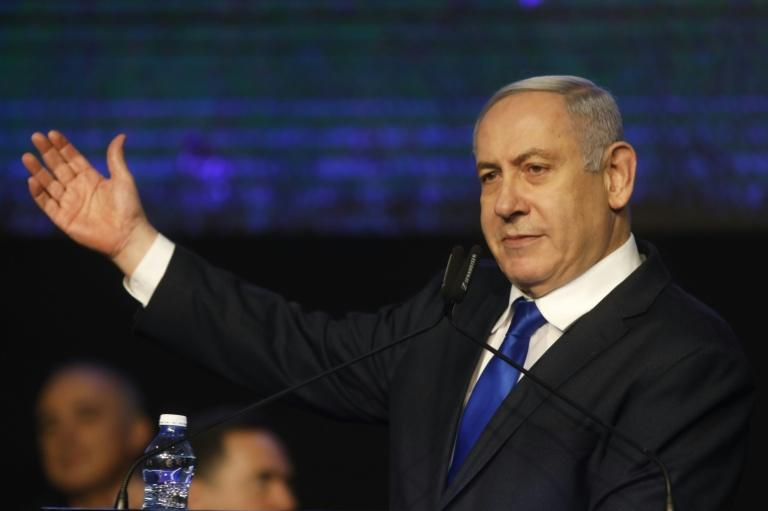 Israeli Prime Minister Benjamin Netanyahu faces the risk of losing office for the first time since 2009 (AFP Photo/MENAHEM KAHANA)