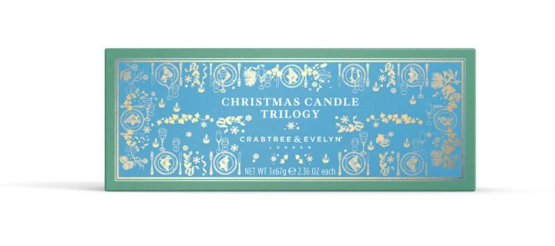 Crabtree & Evelyn's Christmas Candle Trilogy. Source: Crabtree & Evelyn