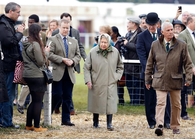 WINDSOR, UNITED KINGDOM - MAY 11: (EMBARGOED FOR PUBLICATION IN UK NEWSPAPERS UNTIL 24 HOURS AFTER CREATE DATE AND TIME) Queen Elizabeth II attends day 4 of the Royal Windsor Horse Show in Home Park on May 11, 2019 in Windsor, England. (Photo by Max Mumby/Indigo/Getty Images)