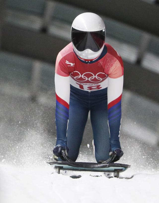Pyeongchang 2018 Winter Olympics Skeleton - Pyeongchang 2018 Winter Olympics - Women's Finals - Olympic Sliding Centre - Pyeongchang, South Korea - February 17, 2018 - Kendall Wesenberg of U.S. competes. REUTERS/Edgar Su
