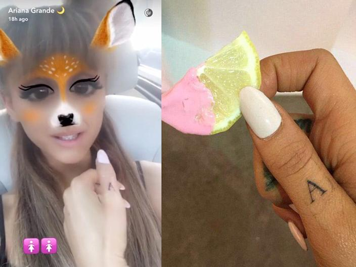 Grande posted these updates to her Snapchat story on August 25, 2016.