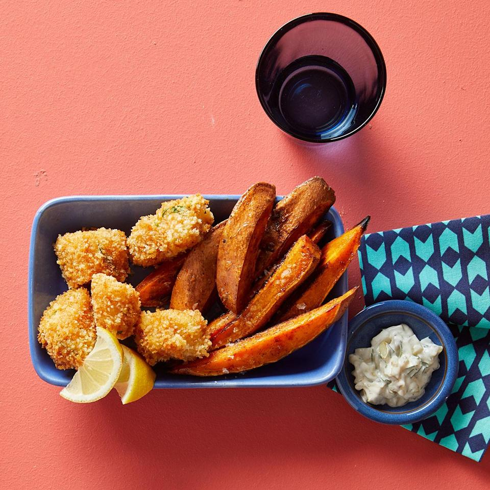 <p>Frozen fish sticks get a makeover with this recipe for oven-baked fish nuggets. To give them that irresistible deep-fried crunch, we rely on panko breadcrumbs with their lighter, flakier texture.</p>