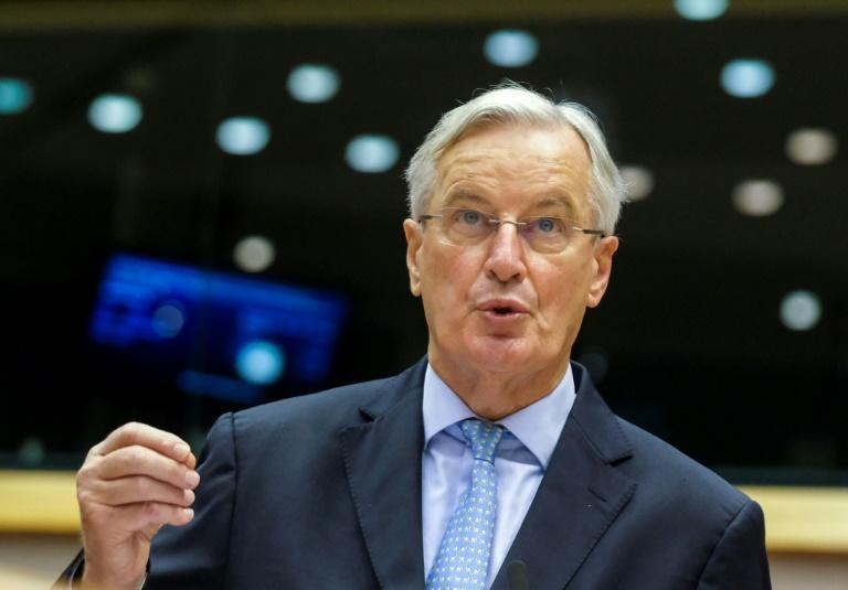EU chief Brexit negotiator Michel Barnier reports to the European Parliament in Brussels on Wednesday about the status of the negotiations