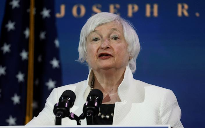 Janet Yellen, U.S. President-elect Joe Biden's nominee to be treasury secretary, speaks as Biden announces nominees and appointees to serve on his economic policy team - Reuters