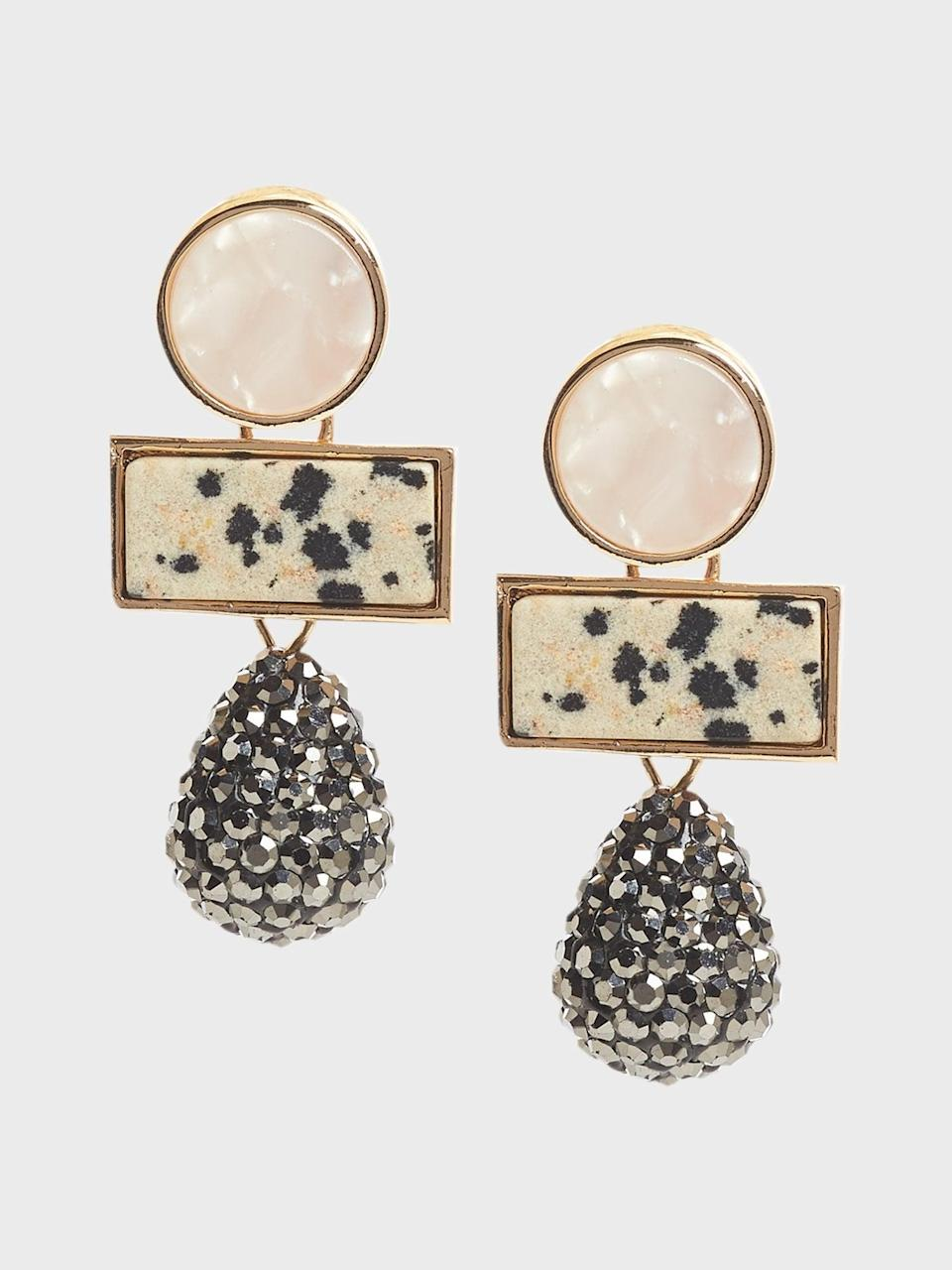 <p>These <span>Banana Republic Triple Drop Mixed Stone Earrings</span> ($33, originally $48) are a perfect statement earring. </p>