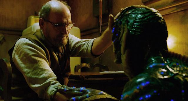 Richard Jenkins and Jones in <em>The Shape of Water. </em>(Photo: Fox Searchlight/Everett Collection)