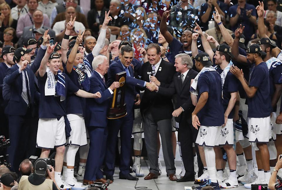 Villanova beat Michigan in the NCAA finals, and the ratings for that game beat everything else on TV Monday night. (Getty)