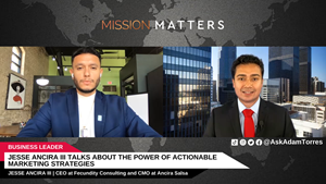 Jesse Ancira III, CEO of Fecundity Consulting and CMO at Ancira Salsa, was interviewed on Mission Matters Business Podcast by Adam Torres.