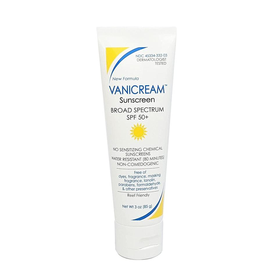 <p>The <span>Vanicream Sunscreen Broad Spectrum SPF 50</span> ($16) is a beloved dermatologist formula that's ideal for any skin type, even the more sensitive ones. It's water-resistant for up to 80 minutes and free of harsh chemicals and dyes.</p>