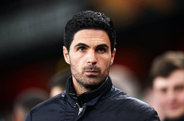 Mikel Arteta felt Arsenal defender William Saliba should have remained at Saint-Etienne to feature in the French cup final (John Walton/PA)