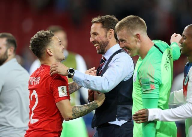 Kieran Trippier has a strong relationship with Gareth Southgate