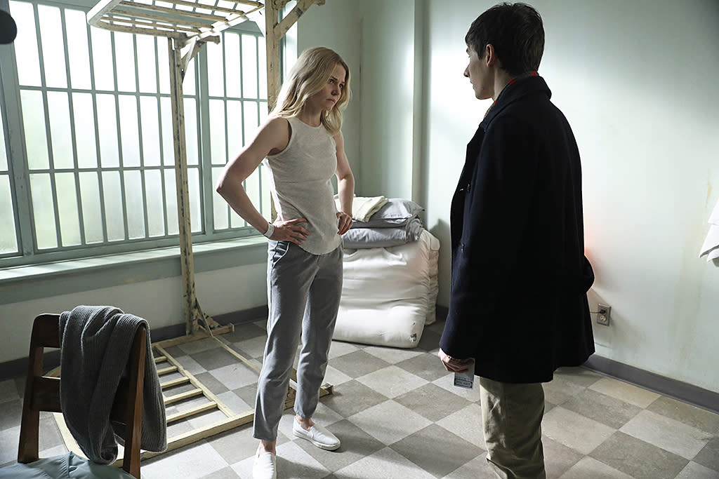 <p>Jennifer Morrison as Emma Swan and Jared Gilmore as Henry Mills in ABC's <i>Once Upon a Time</i>.<br /><br />(Photo: Jack Rowand/ABC) </p>