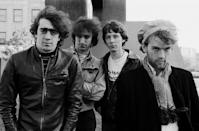"""<p>The Athens, Georgia band blended alt rock and folk rock. Fronted by lead vocalist Michael Stipe R.E.M. got together in 1980. Bill Berry, Peter Buck and Michael Mills were the founding member and they had their first mainstream hit with """"The One I Love"""" in 1987. Their single """"Losing My Religion"""" was their best seller, and their album """"Out of Time"""" received seven Grammy noms. </p>"""
