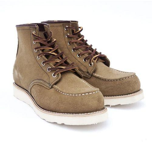 """<p><a class=""""link rapid-noclick-resp"""" href=""""https://www.redwinglondon.com/collections/red-wing-london-moc-toe-work-boots/products/red-wing-classic-moc-toe-8881"""" rel=""""nofollow noopener"""" target=""""_blank"""" data-ylk=""""slk:SHOP"""">SHOP</a></p><p>""""The classic moc toe 8881 from Redwing is their most popular style. Why? Because it is a solid, versatile boot great looking boot. If you spend your summers in Australia, these may be a bit to heavy. But you're not, you're in a country with cold, unreliable summers. So a lightly toned, olive mohave leather moc toe is perfect!""""</p><p><strong>Dan Choppen, Fashion Assistant</strong></p><p>£269, <a href=""""https://www.redwinglondon.com/collections/red-wing-london-moc-toe-work-boots/products/red-wing-classic-moc-toe-8881"""" rel=""""nofollow noopener"""" target=""""_blank"""" data-ylk=""""slk:redwinglondon.com"""" class=""""link rapid-noclick-resp"""">redwinglondon.com</a></p>"""