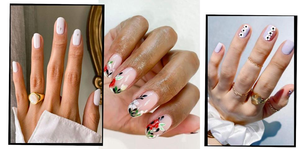 <p>Wedding nail art aka the chance to have the dreamiest manicure ever is possibly our favourite nail art to constantly trawl on Instagram. </p><p>From bride-appropriate French tips with a twist, to the most whimsical way to add flowers into your mani, wedding nail art is undeniably pretty. Whether you're into an understated minimal gold design, or fancy a bolder colour palette to contrast a white dress, there's a chic bridal nail art design for everyone.</p><p>Check out our edit of the best wedding nails on Instagram to really make that wedding band pop.</p>