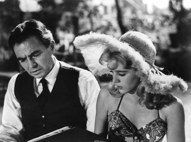British actor James Mason and American actress Sue Lyon on the set of his movie Lolita, based on the novel by Vladimir Nabokov and directed by Stanley Kubrick. (Photo by Seven Arts Production/Sunset Boulevard/Corbis via Getty Images) (Photo: Sunset Boulevard via Getty Images)