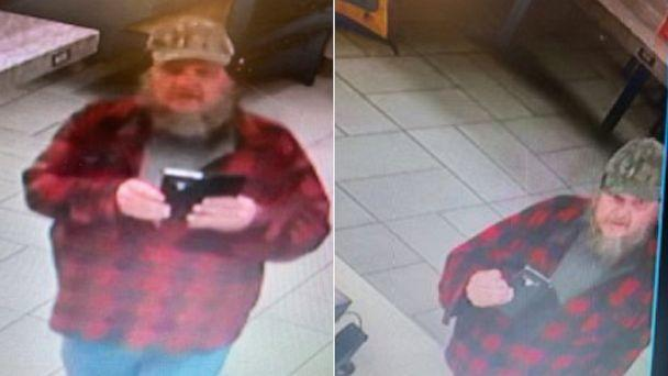 PHOTO: League City Police Department posted these images of the suspect, now identified as James Schulz, in the stabbing of a Jack in the Box manager. Police have issued an arrest warrant and are actively searching for him. (League City Police Dept.)
