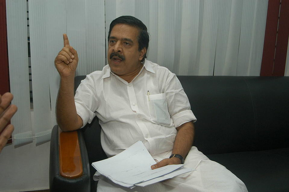 <p><strong>WINS </strong>from <strong>Haripad</strong> (Kerala) against R Sajilal (CPIM) by 13,666 votes</p>