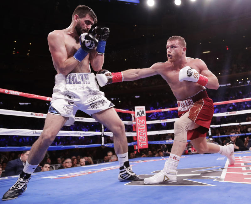 Canelo Alvarez defeated Rocky Fielding to become WBA Super Middleweight Champion