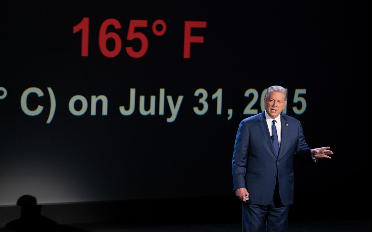 Dir: Bonni Cohen, Jon Shenk; Starring: Al Gore. PG cert, 98 mins. Gore. (Hoo! Yeah!) What is he good for? Making an impassioned, morally urgent case for action on climate change, say it again, y'all. And 11 years on from his Oscar-winning documentary An Inconvenient Truth, the former US Vice President is making it again. Much like its predecessor, An Inconvenient Sequel: Truth to Power is a far more accomplished piece of advocacy than filmmaking. Its star isn't exactly overburdened with Hollywood charisma, and its various argumentative manoeuvres are pulled off with the grace of a reversing bin lorry. But it still politely seizes you by the lapels, makes its case with range and precision, and sends you home with a carbon-neutral fire in your chest. Directors Benni Cohen and Jon Shenk, replacing Davis Guggenheim, have switched the first film's slide show format with a kind of aide's-eye-view perspective of Gore's activities over the last two years. At its best, it offers a gripping account of the slow, gummy churn of the lobbying business: at its worst, it's a little like a gap year video diary, with footage of Gore trudging across melting ice sheets and wading through Miami floodwaters, then stopping to pick over the results of his failed 2000 bid for the US Presidency, which is positioned here – entirely reasonably, if a tad egocentrically – as a wrong-way tipping point on American climate policy. There are also excerpts from Gore's latest roadshow, in which he briefs the faithful with bar charts, and a long spell at the Paris climate accords, during which the Canadian Prime Minister Justin Trudeau pops up genially, a little like the cameo appearance from Spider-Man in Captain America: Civil War. Al Gore greets Justin Trudeau, the Prime Minister of Canada, in An Inconvenient Sequel Credit: Paramount Pictures/Participant Media Cohen and Shenk don't stint on featuring the pushback against the climate movement: in fact, the opening montage features various Republican talking heads inveighing against the original film, including one Donald J. Trump, who trashes the science before demanding Gore's 2007 Nobel Peace Prize be rescinded. Yet, for the most part, the film feels oddly sluggish in its reaction to Trump's surge to power. Inconvenient as it surely would have been, the ongoing political earthquake in the United States and its consequences for Gore's crusade surely merited an 11th-hour restructuring of the documentary, which doesn't appear to have taken place. Trump's withdrawal of the United States from the Paris accords in June is acknowledged in a handful of on-screen captions: no doubt that was all there was time for, but it's still a conspicuous gap. As a result, the film can't help but seem dated on arrival: its heart and line of thought are unquestionably in the right places, but its finger, through no fault of its own, feels a few beats behind the pulse. The 30 best documentaries on Netflix