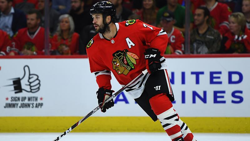 Blackhawks' Brent Seabrook on ice for voluntary workout