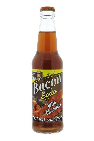 """<p>Described as a """"highly drinkable soda that tastes like milk chocolate combined with the flavour of crispy bacon."""" Something tells me the """"highly drinkable"""" is highly debatable. [Photo: Amazon] </p>"""