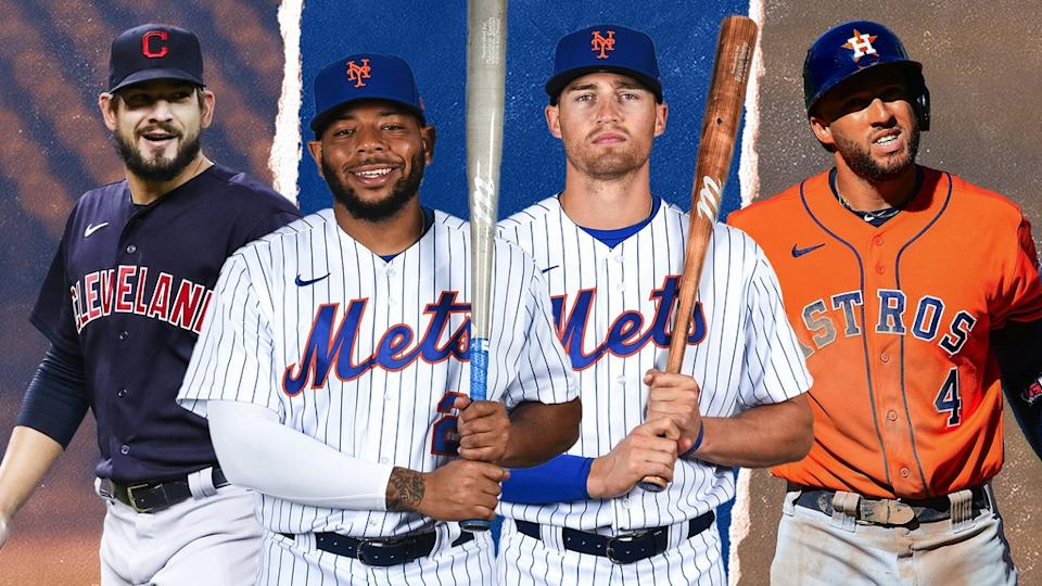Brad Hand, Dom Smith, Brandon Nimmo, and George Springer TREATED ART