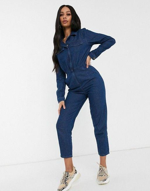 """<p><strong>Asos DESIGN</strong></p><p>us.asos.com</p><p><strong>$72.00</strong></p><p><a href=""""https://go.redirectingat.com?id=74968X1596630&url=https%3A%2F%2Fwww.asos.com%2Fus%2Fasos-design%2Fasos-design-lightweight-denim-tailored-boilersuit-in-blue%2Fprd%2F13201862&sref=https%3A%2F%2Fwww.goodhousekeeping.com%2Fbeauty%2Ffashion%2Fg31811906%2Fcute-summer-outfits%2F"""" rel=""""nofollow noopener"""" target=""""_blank"""" data-ylk=""""slk:Shop Now"""" class=""""link rapid-noclick-resp"""">Shop Now</a></p><p>Jumpsuits are the perfect one and done! Denim is the right fabric that can take you from day to evening. Pair your jumpsuit with sneakers for the day and high heels for nighttime. </p>"""