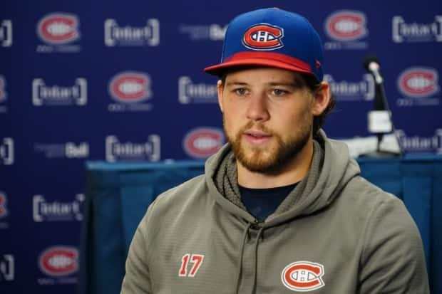 Josh Anderson is at the Montreal Canadiens' training camp, preparing for the 2021-22 season. (Charles Contant/CBC - image credit)