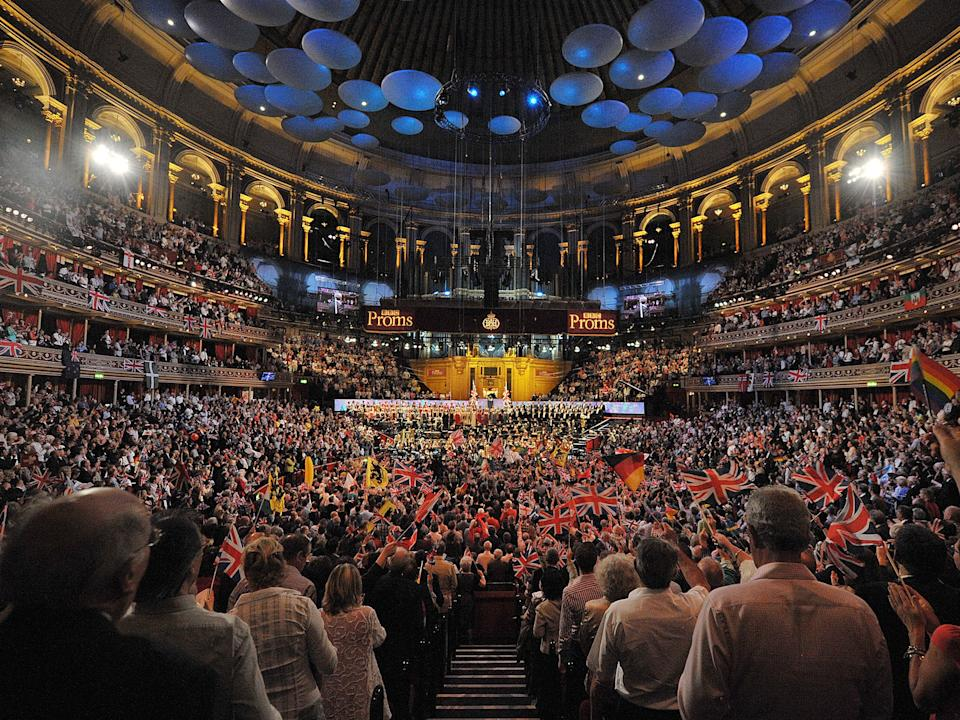 Revellers at the Proms at London's Royal Albert Hall, one of hundreds of live music venues under threatGetty Images