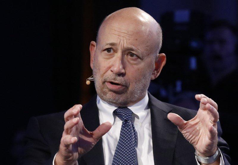 Goldman Sachs Chairman and CEO Lloyd Blankfein speaks at the Bloomberg Global Business Forum in New York U.S