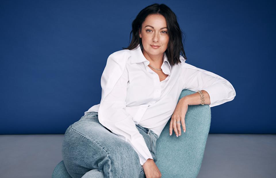Celeste Barber is the 2021 ambassador for the White Shirt Campaign by Witchery and the OCRF. Photo: supplied.