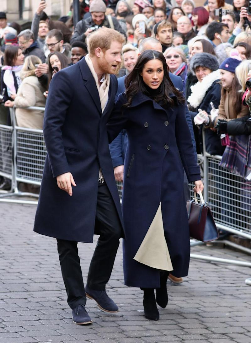 The pair greeted people on the street. Photo: Getty