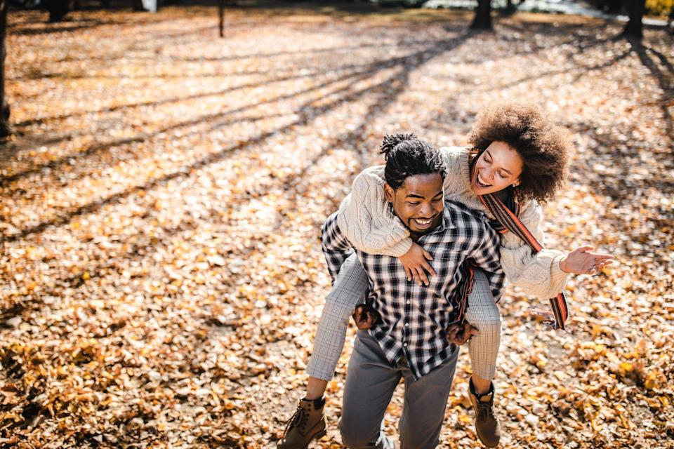 """<p>How is it already autumn? This year has flown by, and not necessarily in a good way. But, wait, is it still possible to connect? Outside of your house? With another person? Yep. Dating can still work.</p><p>""""The purpose [of dating] in my eyes is supposed to be to get to know each other, see if you guys want a serious relationship with each other, and then be able to make sure you guys are on the same page,"""" says Stephan Labossiere, also known as Stephan Speaks, an author and relationship coach. Marriage is the ultimately goal for a lot of people, but even if that's not your thing, dating can help you find someone who's a fit...for whatever puzzle you're working on. (<a href=""""https://www.menshealth.com/sex-women/a33484215/dating-apps-coronavirus/"""" rel=""""nofollow noopener"""" target=""""_blank"""" data-ylk=""""slk:Just have some key COVID-related conversations first"""" class=""""link rapid-noclick-resp"""">Just have some key COVID-related conversations first</a>.) Fall is as good a time as any to connect with a new partner—in fact, it might even the <em>best</em> time, as folks are gearing up for <a href=""""https://www.menshealth.com/sex-women/a25682705/what-is-cuffing-season/"""" rel=""""nofollow noopener"""" target=""""_blank"""" data-ylk=""""slk:cuffing season"""" class=""""link rapid-noclick-resp"""">cuffing season</a>. Plus, there's something romantic about wearing a cozy sweater and sipping a warm beverage. </p><p>Look: The leaves are changing. The weather is kinda perfect. And you can avoid crowds. So, if you make a connection, make an effort. Get creative. There's more to do than drinks!</p><p>For more dating inspiration, check out our guides to <a href=""""https://www.menshealth.com/sex-women/a19517930/best-first-date-ideas/"""" rel=""""nofollow noopener"""" target=""""_blank"""" data-ylk=""""slk:first date ideas"""" class=""""link rapid-noclick-resp"""">first date ideas</a>, <a href=""""https://www.menshealth.com/sex-women/a28099798/second-date-ideas/"""" rel=""""nofollow noopener"""" target=""""_blank"""" data-ylk=""""slk:second date ideas"""" class=""""link """