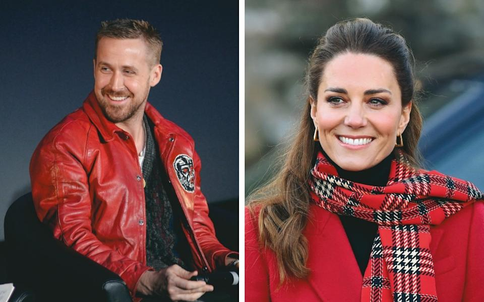 Ryan Gosling and the Duchess of Cambridge are modern dental pin-ups for their youthful, full-toothed smiles – with minimal 'buccal corridors' - Getty Images