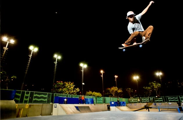 Farris Rahman takes off a ramp in Hong Kong. (Photo courtesy of Red Bull Content Pool)