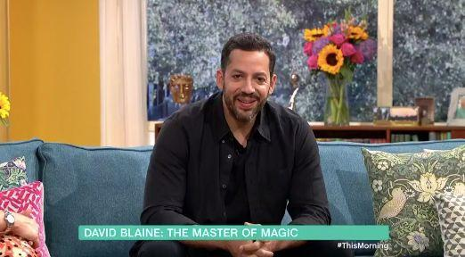 David Blaine sits down wit Eamonn Holme again on This Morning for the first time in 18 years