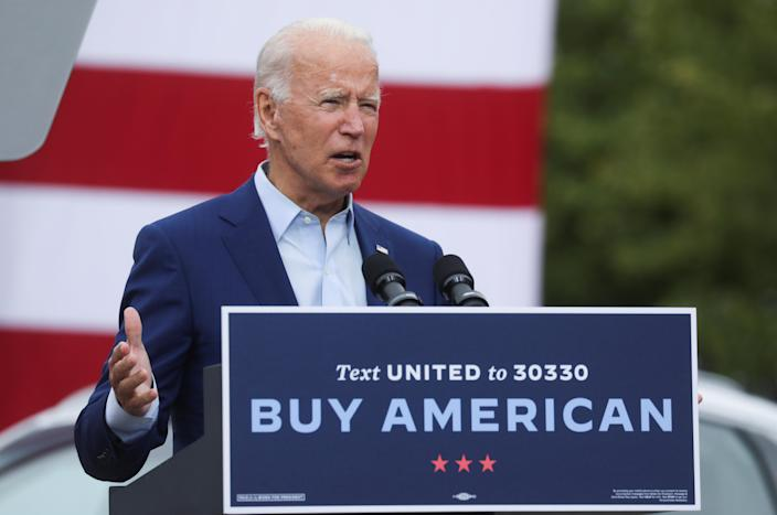 Joe Biden at a campaign stop in Warren, Mich., on Wednesday. (Leah Millis/Reuters)