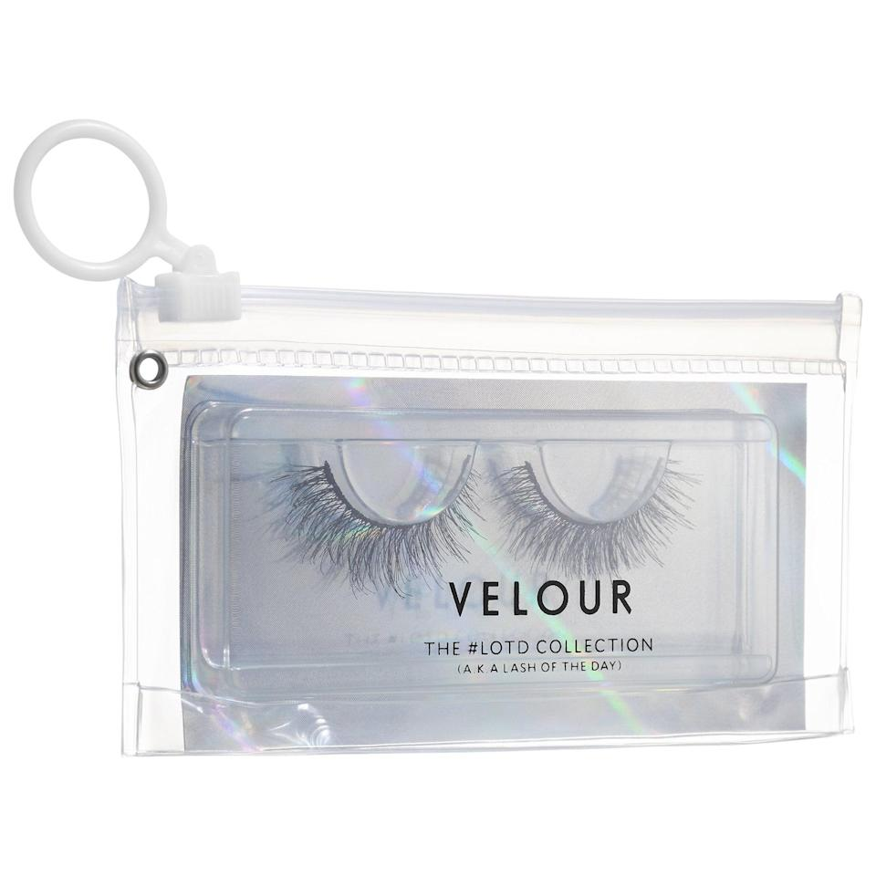 <p><span>Velour Lashes The #LOTD Collection – Premium Synthetic Lashes</span> ($15) come in natural, medium, and dramatic densities, and have a thin lash strip that can be easier to apply for first timers. Plus, they're 100 percent cruelty free, vegan, and gluten-free as well.</p>