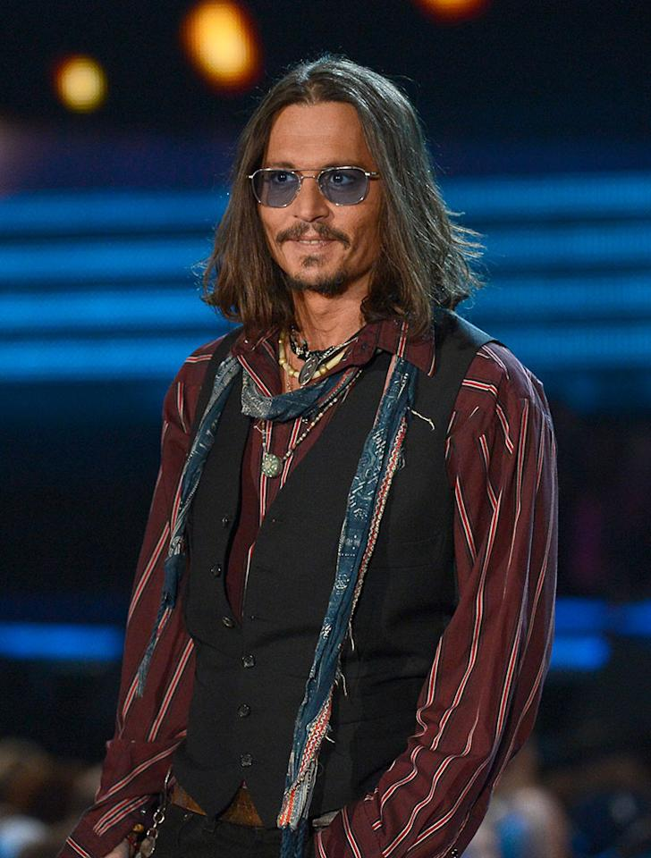 Johnny Depp onstage at the 55th Annual Grammy Awards at the Staples Center in Los Angeles, CA on February 10, 2013.